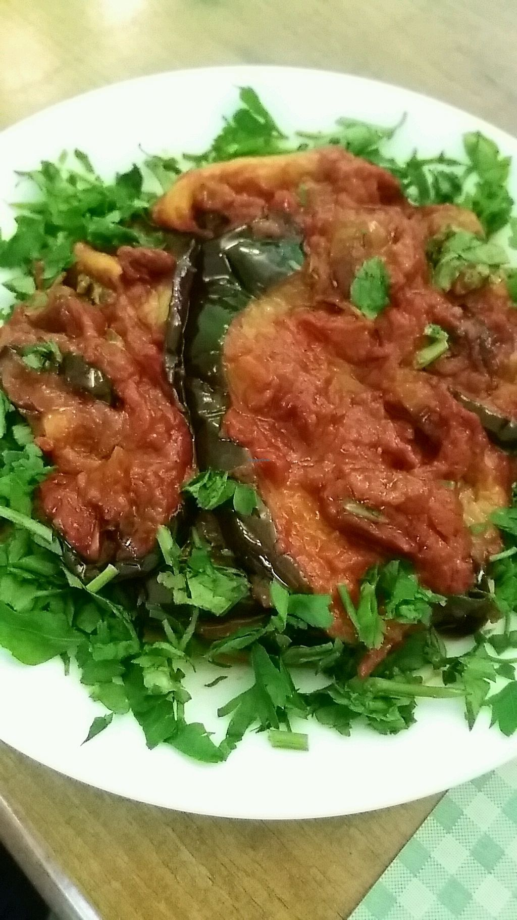 """Photo of VegeOrient  by <a href=""""/members/profile/Mia_Siufi"""">Mia_Siufi</a> <br/>Moussaka: for eggplant lovers! I also order the falafel sandwich to share (it's huge!) <br/> March 5, 2018  - <a href='/contact/abuse/image/61214/367124'>Report</a>"""