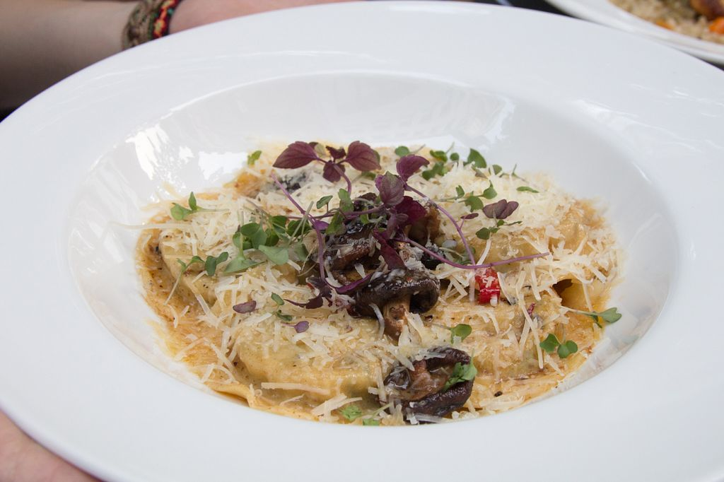"Photo of Herzenslust  by <a href=""/members/profile/SVEggieSI"">SVEggieSI</a> <br/>Ravioli with mixed mushrooms (vegetarian) <br/> August 16, 2015  - <a href='/contact/abuse/image/61289/113777'>Report</a>"