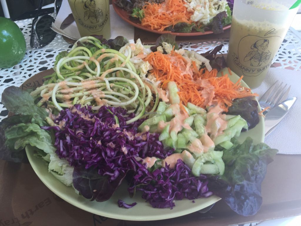 """Photo of Granny Smith  by <a href=""""/members/profile/Ezey11"""">Ezey11</a> <br/>raw veg and juice meal <br/> July 6, 2016  - <a href='/contact/abuse/image/61330/158111'>Report</a>"""