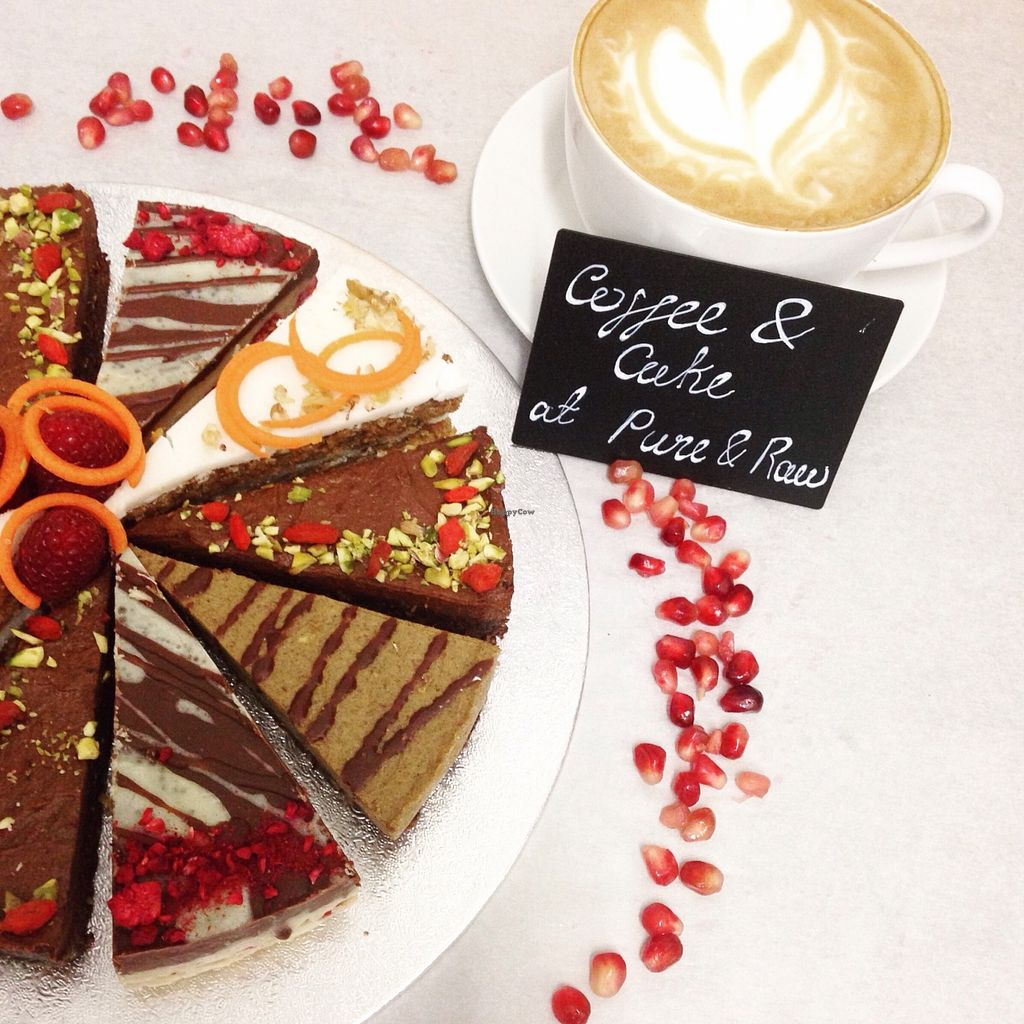 Photo of Pure and Raw  by kitchenofkirsten <br/>Our selection of raw cakes. Enjoy with a superfood latte! <br/> February 1, 2016  - <a href='/contact/abuse/image/61369/134559'>Report</a>