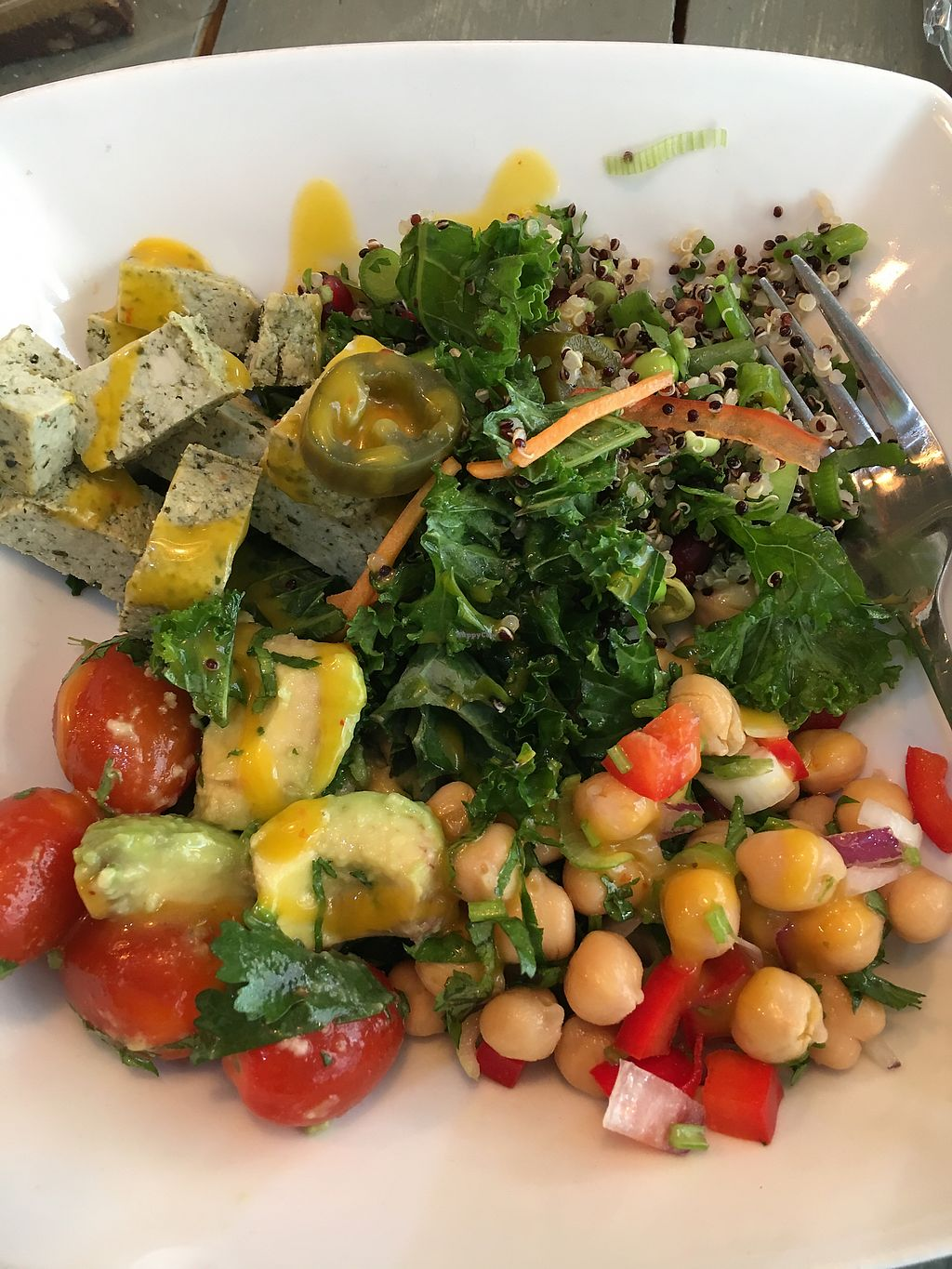 "Photo of Pure and Raw  by <a href=""/members/profile/MannieRie"">MannieRie</a> <br/>delicious tofu and salad <br/> August 8, 2017  - <a href='/contact/abuse/image/61369/290533'>Report</a>"