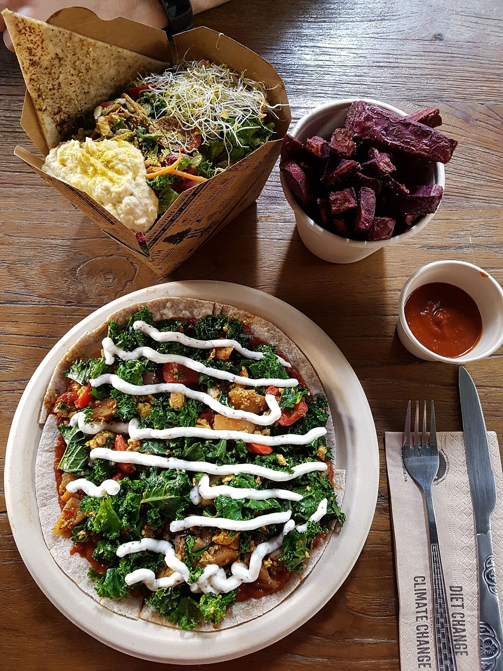 """Photo of Mana! Cafe - Sheung Wan  by <a href=""""/members/profile/SomethingVegan"""">SomethingVegan</a> <br/>Lunch - all vegan <br/> January 1, 2018  - <a href='/contact/abuse/image/61370/341759'>Report</a>"""