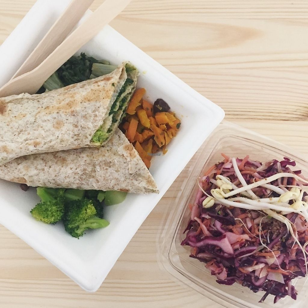 """Photo of SmileS - organic veg and raw cuisine to go  by <a href=""""/members/profile/CiriGiada"""">CiriGiada</a> <br/>Lunch box with wraps and cabbage salad, so delicious! <br/> November 18, 2016  - <a href='/contact/abuse/image/61385/191654'>Report</a>"""
