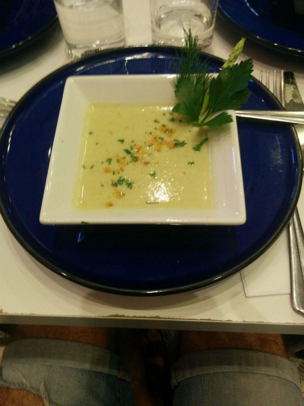 """Photo of Maya Cafe  by <a href=""""/members/profile/FlokiTheCat"""">FlokiTheCat</a> <br/>Creamy style asparagus soup <br/> June 4, 2017  - <a href='/contact/abuse/image/61407/265573'>Report</a>"""