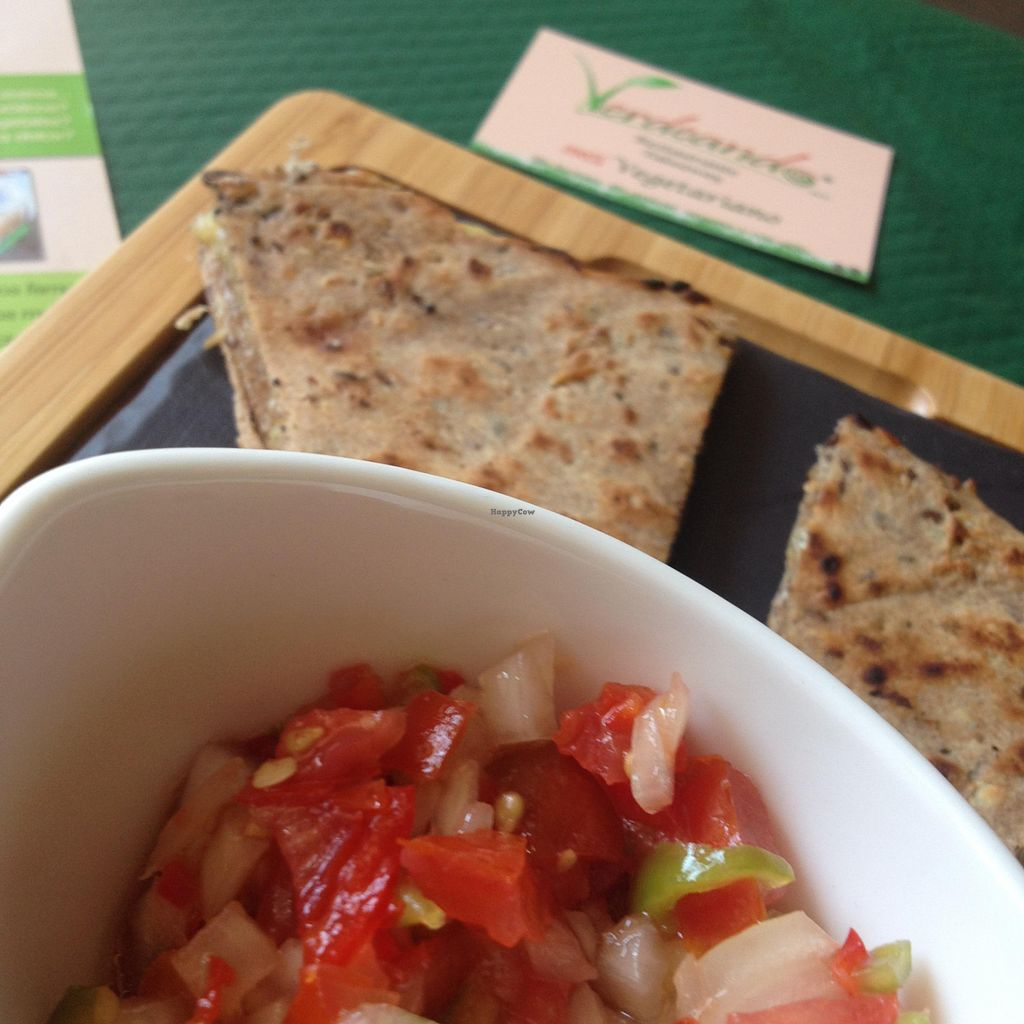 """Photo of Verdeando  by <a href=""""/members/profile/Gem%20Uchi"""">Gem Uchi</a> <br/>Homemade quesadillas with vegan cheese <br/> August 4, 2015  - <a href='/contact/abuse/image/61415/112361'>Report</a>"""