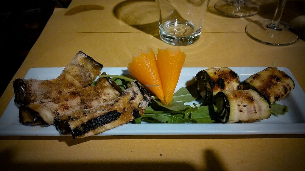 """Photo of Lizard  by <a href=""""/members/profile/AlessandroPalmesi"""">AlessandroPalmesi</a> <br/>a very tasty starter with fresh veggies and vegan cheese filling <br/> October 29, 2017  - <a href='/contact/abuse/image/61419/319899'>Report</a>"""