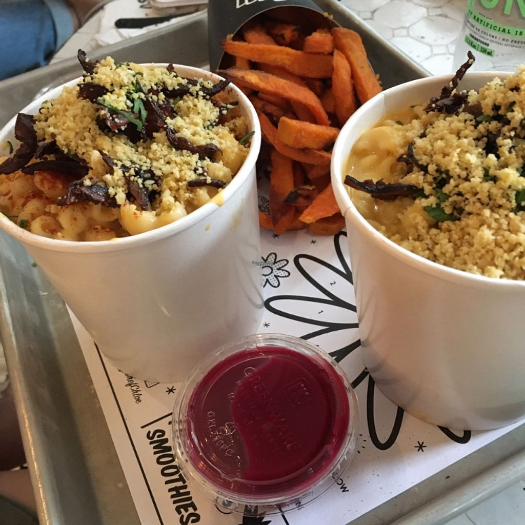 """Photo of By Chloe - Washington Square Park  by <a href=""""/members/profile/the.friendly.fig"""">the.friendly.fig</a> <br/>Gluten free, Vegan Mac and cheese with shiitake 'bacon' and almond 'parm' <br/> August 13, 2016  - <a href='/contact/abuse/image/61421/168033'>Report</a>"""