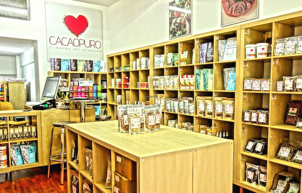 """Photo of CacaoPuro  by <a href=""""/members/profile/cacaopuro"""">cacaopuro</a> <br/>Raw, Vegan, Organic Food Shop and e-Shop in Rome - ITALY <br/> August 3, 2015  - <a href='/contact/abuse/image/61434/112046'>Report</a>"""
