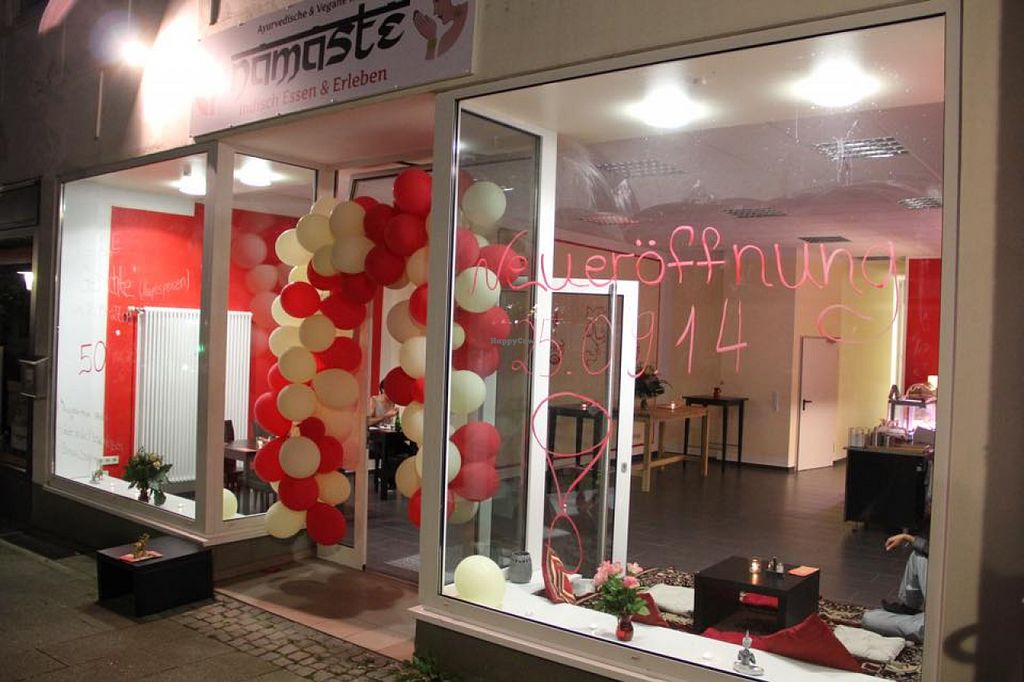 """Photo of Namaste  by <a href=""""/members/profile/community"""">community</a> <br/>Namaste - grand opening Sept 2014 <br/> August 1, 2015  - <a href='/contact/abuse/image/61446/111874'>Report</a>"""