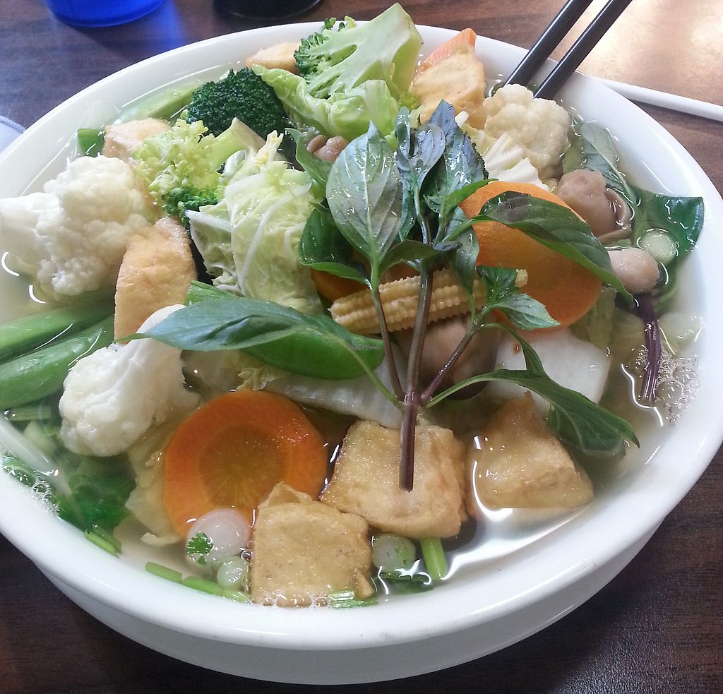 "Photo of Viet Taste  by <a href=""/members/profile/liko"">liko</a> <br/>Vegan pho <br/> August 1, 2015  - <a href='/contact/abuse/image/61450/202120'>Report</a>"