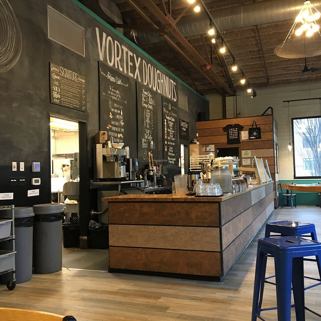 "Photo of Vortex Doughnuts  by <a href=""/members/profile/Thepennsyltuckyvegan"">Thepennsyltuckyvegan</a> <br/>Nice atmosphere  <br/> March 15, 2018  - <a href='/contact/abuse/image/61456/371139'>Report</a>"
