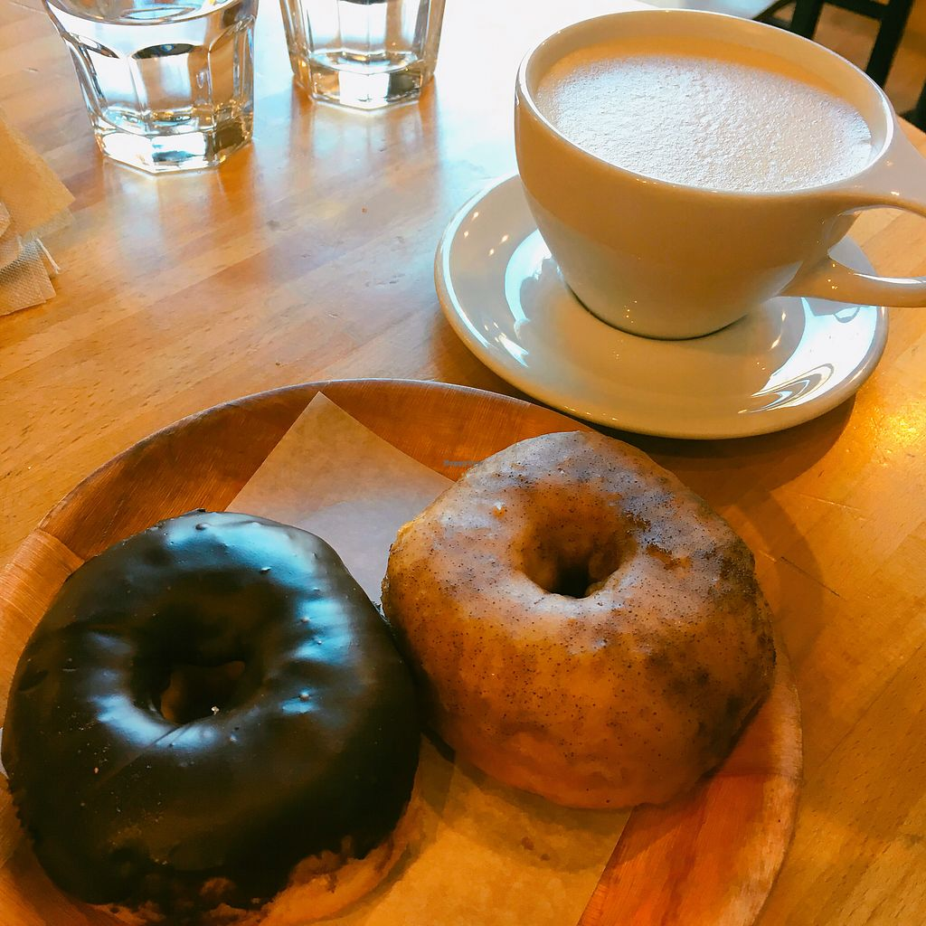"Photo of Vortex Doughnuts  by <a href=""/members/profile/janbee"">janbee</a> <br/>Chai latte and ?? <br/> April 17, 2018  - <a href='/contact/abuse/image/61456/387395'>Report</a>"