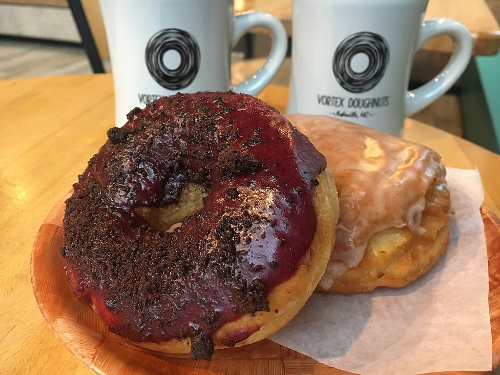 "Photo of Vortex Doughnuts  by <a href=""/members/profile/Laura1G2C"">Laura1G2C</a> <br/>Blueberry Chocolate Cookie Doughnut  <br/> April 18, 2018  - <a href='/contact/abuse/image/61456/387450'>Report</a>"