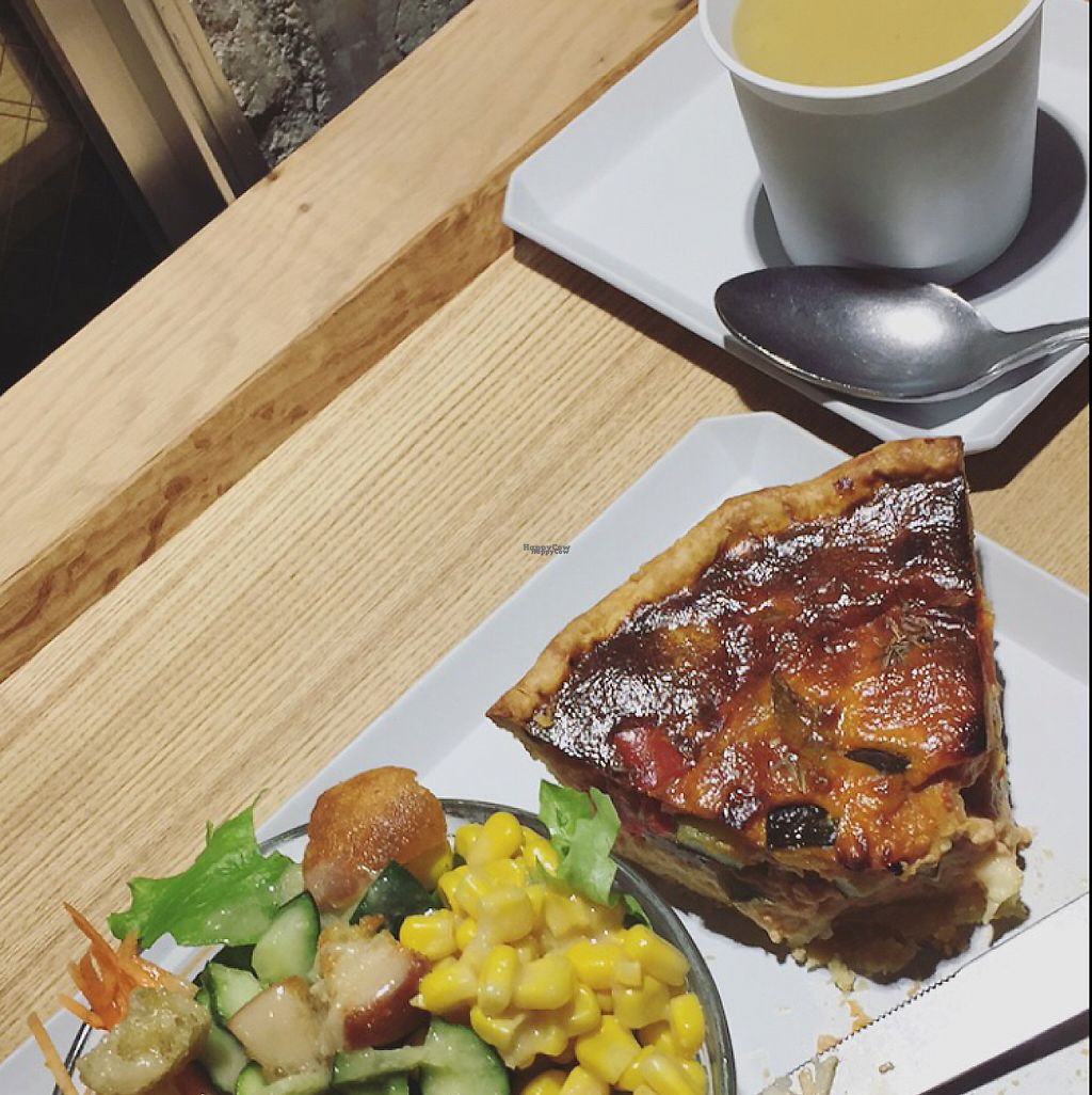 """Photo of Citron  by <a href=""""/members/profile/ShannonSky"""">ShannonSky</a> <br/>Vege quiche w/side salad & sml leek/potato soup ¥1380 <br/> March 21, 2017  - <a href='/contact/abuse/image/61483/239177'>Report</a>"""