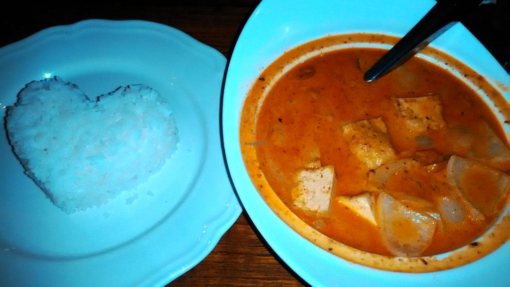 """Photo of The Riverside Restaurant  by <a href=""""/members/profile/LilacHippy"""">LilacHippy</a> <br/>Vegan masaman curry with potato and tofu <br/> February 20, 2016  - <a href='/contact/abuse/image/61486/136936'>Report</a>"""