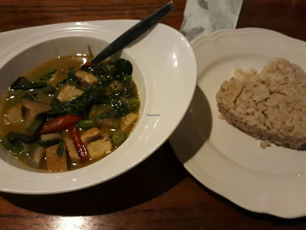 """Photo of The Riverside Restaurant  by <a href=""""/members/profile/LilacHippy"""">LilacHippy</a> <br/>Green curry with brown rice <br/> August 5, 2017  - <a href='/contact/abuse/image/61486/289162'>Report</a>"""