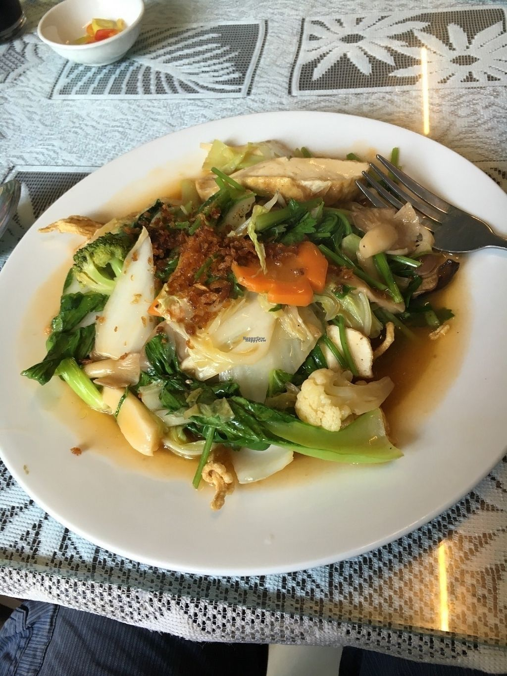 "Photo of Hoa Thien  by <a href=""/members/profile/Tim_nottingham"">Tim_nottingham</a> <br/>Wok tossed vegetables on crispy noodles.  <br/> September 2, 2016  - <a href='/contact/abuse/image/61491/172997'>Report</a>"
