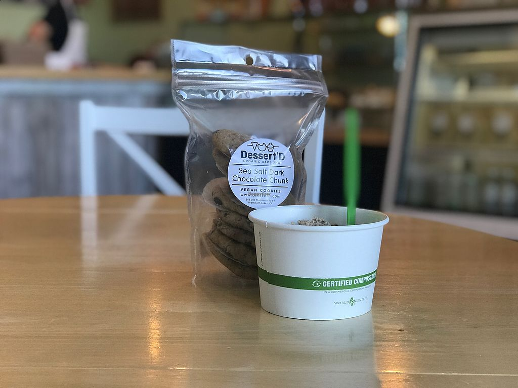 """Photo of Mimi's Cookie Bar  by <a href=""""/members/profile/tonyakay"""">tonyakay</a> <br/>Vegan ice cream, vegan cookies and compostable spoon:-) <br/> March 8, 2018  - <a href='/contact/abuse/image/61497/367961'>Report</a>"""