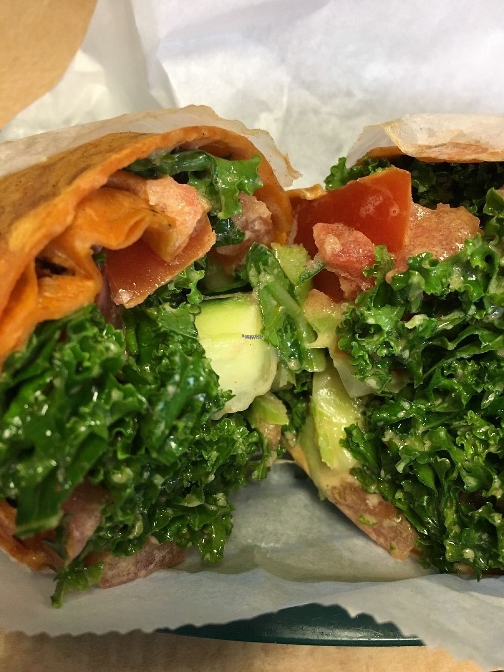 """Photo of Viva La Vegan  by <a href=""""/members/profile/cookiem"""">cookiem</a> <br/>Big kale wrap <br/> February 21, 2017  - <a href='/contact/abuse/image/61498/228943'>Report</a>"""