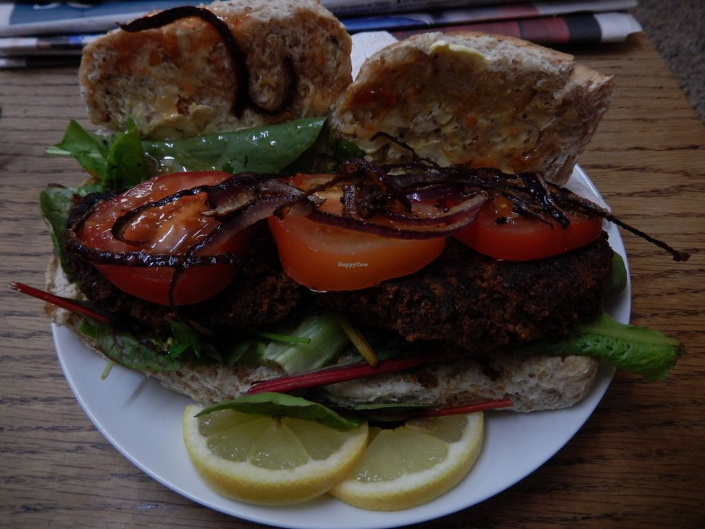 """Photo of The Red Wizard  by <a href=""""/members/profile/CLRtraveller"""">CLRtraveller</a> <br/>Smokey Veggie Burger <br/> August 5, 2015  - <a href='/contact/abuse/image/61521/112370'>Report</a>"""