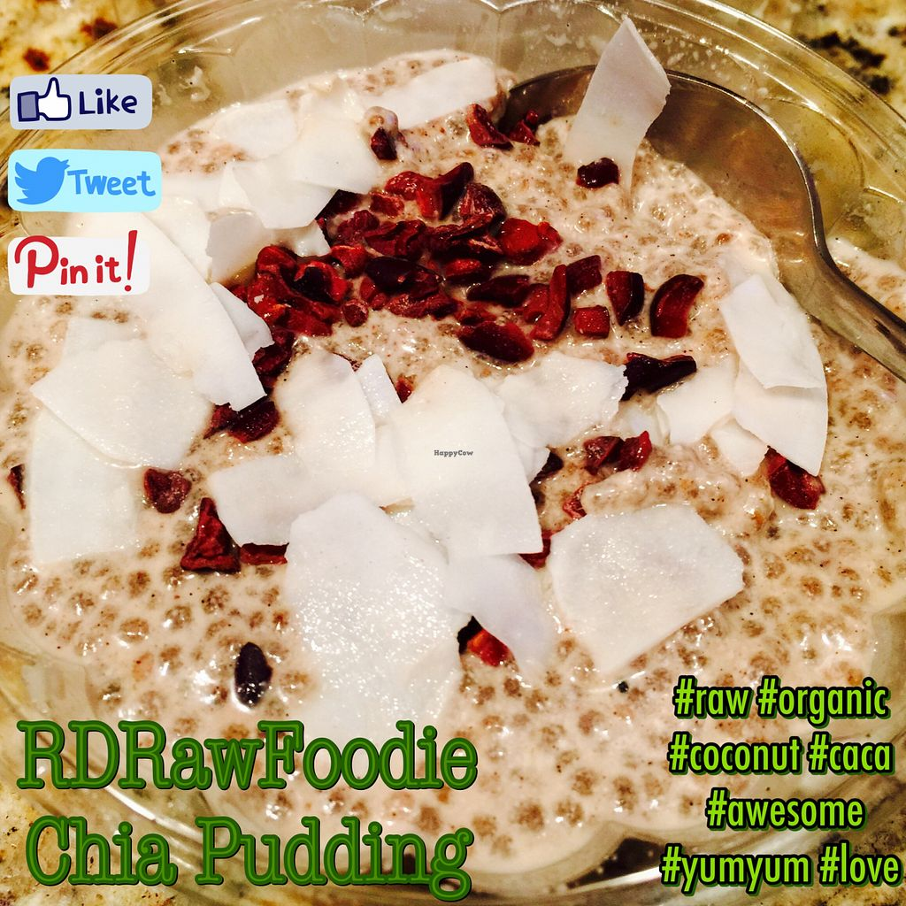 """Photo of CLOSED: RD Raw Foodie  by <a href=""""/members/profile/Aspiring"""">Aspiring</a> <br/>RD Raw Foodie's Fantastic Chia Pudding <br/> August 9, 2015  - <a href='/contact/abuse/image/61526/112916'>Report</a>"""