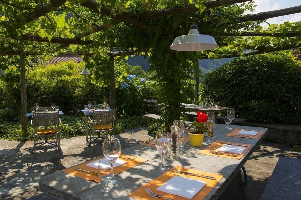 """Photo of Ristorante Cristallina  by <a href=""""/members/profile/Cristallina"""">Cristallina</a> <br/>Our garden terrace <br/> September 15, 2016  - <a href='/contact/abuse/image/61539/175834'>Report</a>"""