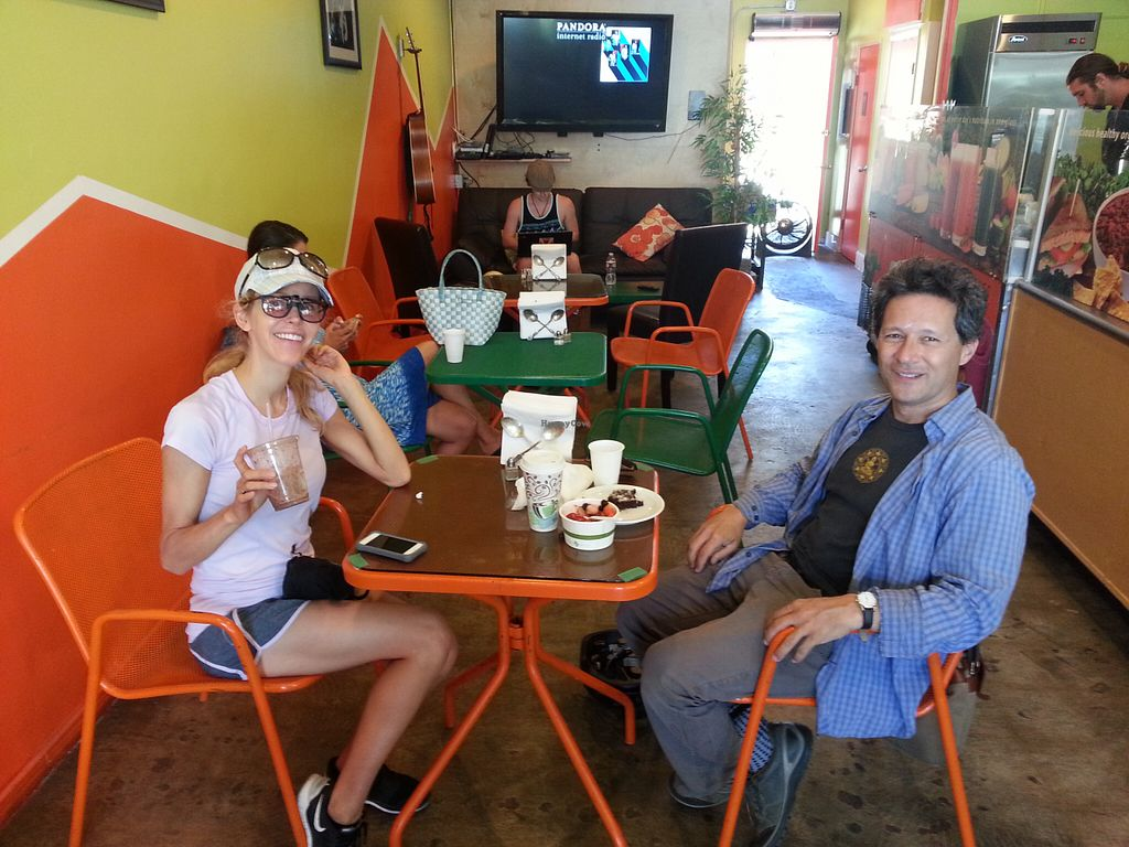 """Photo of CLOSED: The Mad Carrot  by <a href=""""/members/profile/eric"""">eric</a> <br/>vegan bikers <br/> August 15, 2015  - <a href='/contact/abuse/image/61554/113681'>Report</a>"""