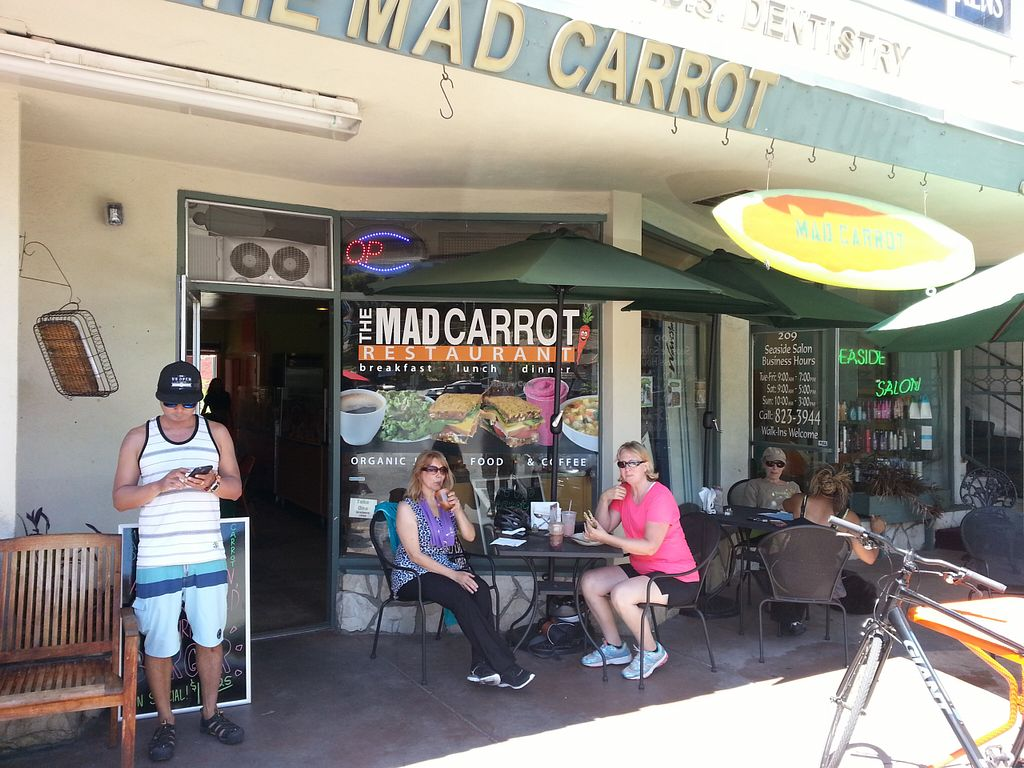 """Photo of CLOSED: The Mad Carrot  by <a href=""""/members/profile/eric"""">eric</a> <br/>more vegan bikers <br/> August 15, 2015  - <a href='/contact/abuse/image/61554/113682'>Report</a>"""