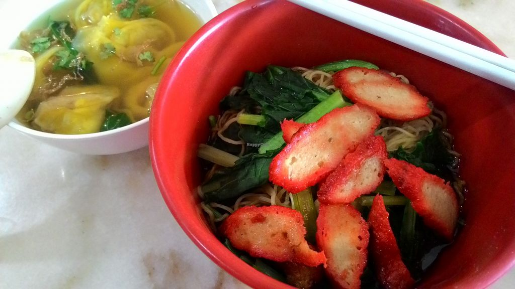 """Photo of Nature Vegetarian Delights  by <a href=""""/members/profile/Peace%20..."""">Peace ...</a> <br/>Wonton Noodles @ S$5 <br/> December 31, 2015  - <a href='/contact/abuse/image/6162/130555'>Report</a>"""