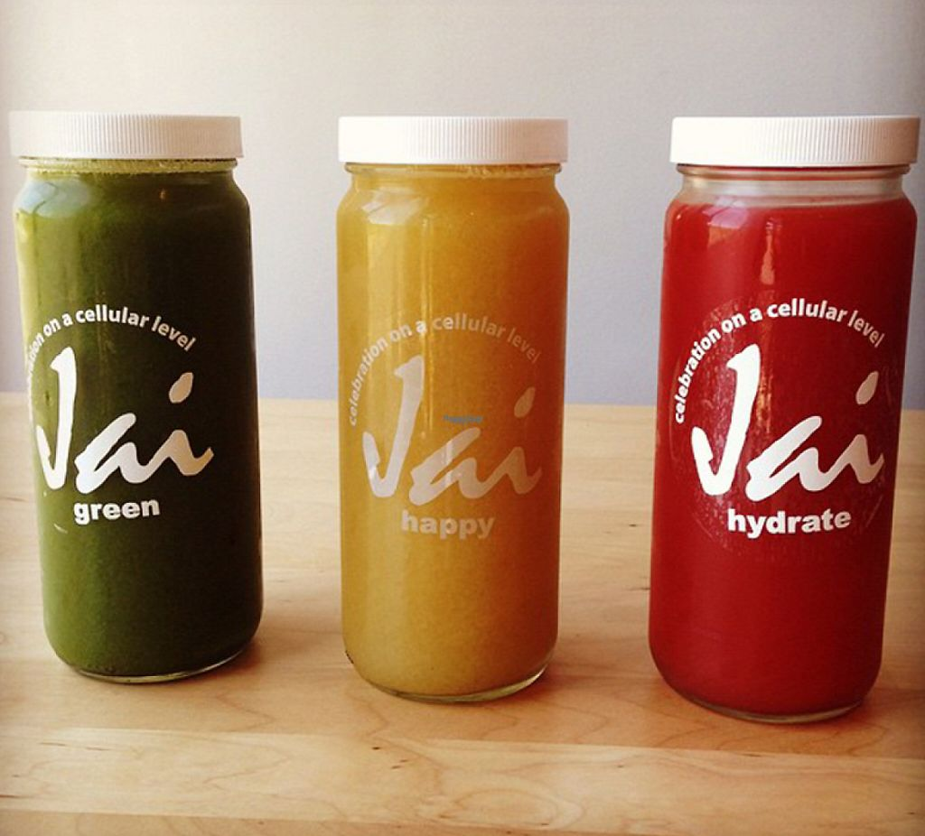"""Photo of CLOSED: Jai Juice  by <a href=""""/members/profile/JuliaHaller"""">JuliaHaller</a> <br/>Green, Happy and Hydrate juices <br/> August 22, 2016  - <a href='/contact/abuse/image/61671/199836'>Report</a>"""