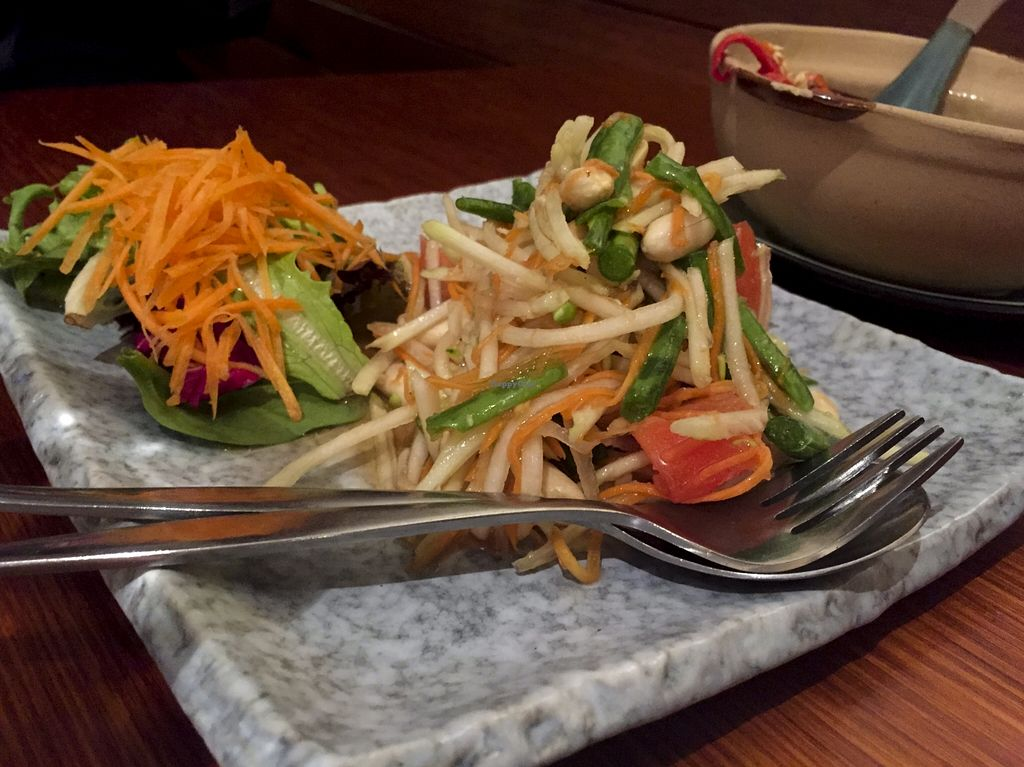 "Photo of Nongkhai Thai  by <a href=""/members/profile/karlaess"">karlaess</a> <br/>Papaya Salad (specials menu) <br/> August 24, 2015  - <a href='/contact/abuse/image/61707/115042'>Report</a>"