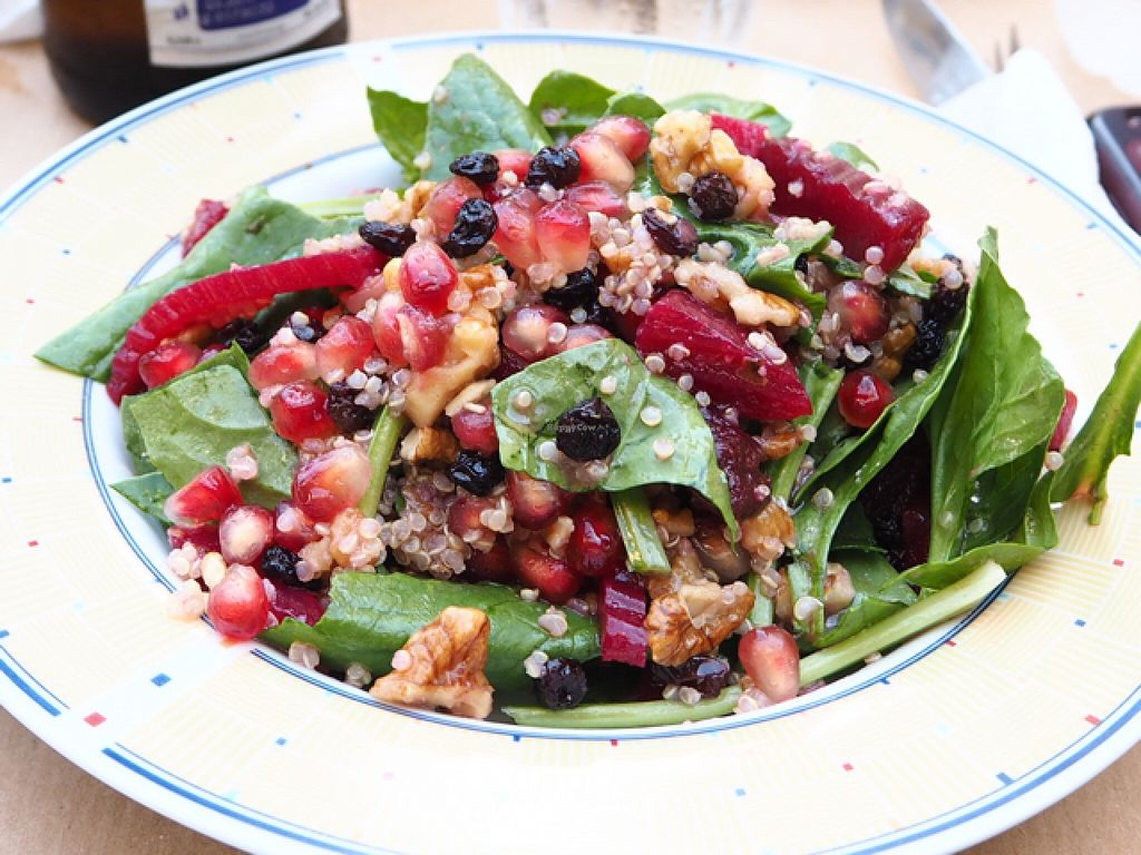 """Photo of Pane e Souvlaki  by <a href=""""/members/profile/MyGreenBakery"""">MyGreenBakery</a> <br/>Quinoa and pommegranate salad <br/> July 15, 2016  - <a href='/contact/abuse/image/61709/160078'>Report</a>"""