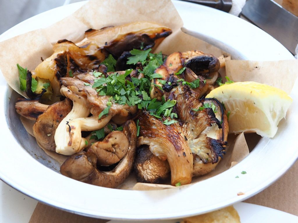 """Photo of Pane e Souvlaki  by <a href=""""/members/profile/MyGreenBakery"""">MyGreenBakery</a> <br/>Grilled mushrooms <br/> July 15, 2016  - <a href='/contact/abuse/image/61709/160079'>Report</a>"""