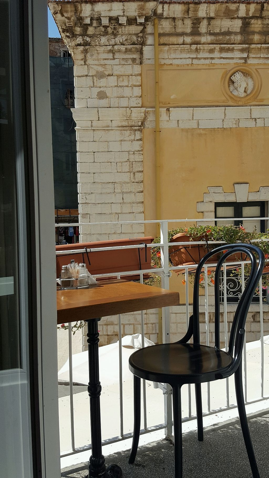 """Photo of Pane e Souvlaki  by <a href=""""/members/profile/JudithRuland"""">JudithRuland</a> <br/>seating on the balcony <br/> September 18, 2017  - <a href='/contact/abuse/image/61709/305651'>Report</a>"""