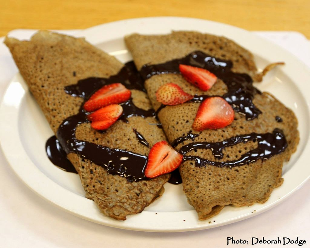 """Photo of 7th Element  by <a href=""""/members/profile/JeanneGrosset"""">JeanneGrosset</a> <br/>Buckwheat crepes - this is our Sweet Crepe - filled with fresh strawberries and a chocolate sauce on top <br/> October 20, 2015  - <a href='/contact/abuse/image/61715/121962'>Report</a>"""