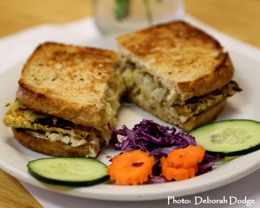 """Photo of 7th Element  by <a href=""""/members/profile/JeanneGrosset"""">JeanneGrosset</a> <br/>Our Tempeh Rueben - marinated tempeh in a citrus reduction for extra flavor and easier digestion. Create our sandwich with powerful raw sauerkraut and our own homemade Thousand Island dressing. Served on rye bread OR our gluten free alternative <br/> October 20, 2015  - <a href='/contact/abuse/image/61715/121964'>Report</a>"""