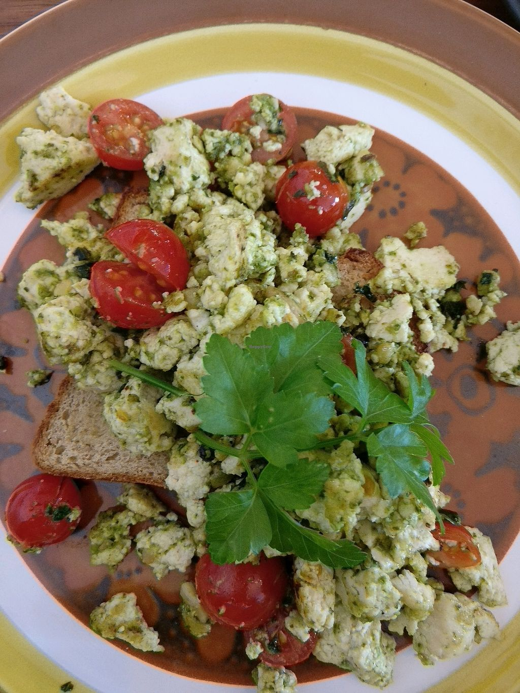 "Photo of Eka Wholefoods & Cafe  by <a href=""/members/profile/Aloo"">Aloo</a> <br/>pesto with scrambled tofu, cherry tomatoes was tasty <br/> October 7, 2017  - <a href='/contact/abuse/image/61727/312537'>Report</a>"