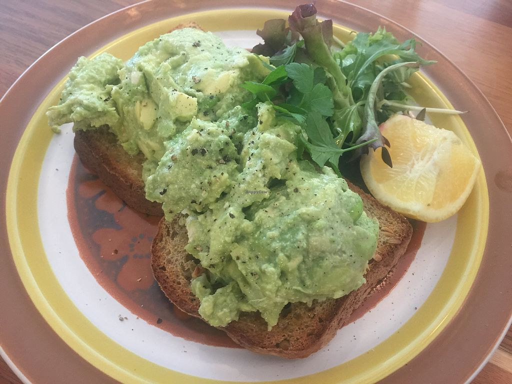 "Photo of Eka Wholefoods & Cafe  by <a href=""/members/profile/Tiggy"">Tiggy</a> <br/>Smashed avocado with vegan feta ($14) <br/> October 8, 2017  - <a href='/contact/abuse/image/61727/312967'>Report</a>"