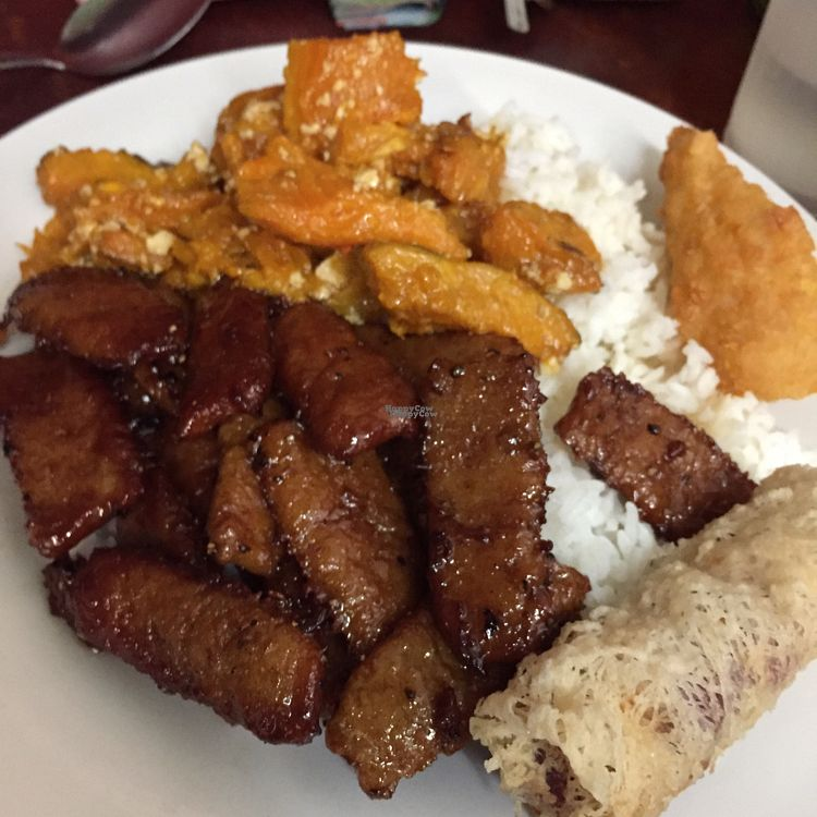 """Photo of Blossoming Lotus  by <a href=""""/members/profile/leonardhall"""">leonardhall</a> <br/>crispy soy, pumpkin and tofu, taro roll <br/> October 5, 2016  - <a href='/contact/abuse/image/6173/179818'>Report</a>"""
