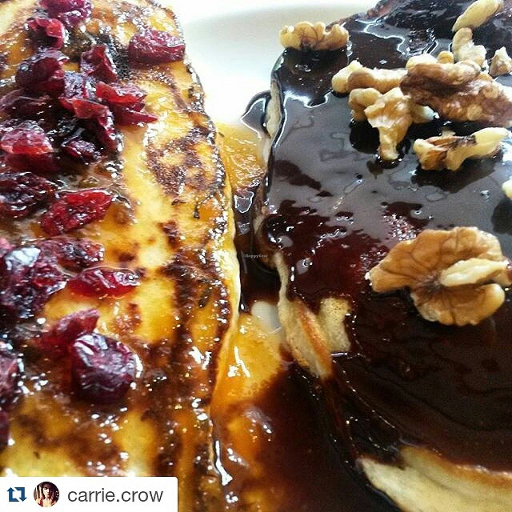 "Photo of Superfood  by <a href=""/members/profile/TickySuperfood"">TickySuperfood</a> <br/>American Pancakes with dark Belgian chocolate, nuts, apricot-lavander jam and cranberries! <br/> August 9, 2015  - <a href='/contact/abuse/image/61744/112955'>Report</a>"