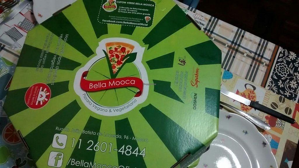 "Photo of Bella Mooca Pizzaria  by <a href=""/members/profile/Sylvane"">Sylvane</a> <br/>the pizza box <br/> June 27, 2017  - <a href='/contact/abuse/image/61749/274015'>Report</a>"