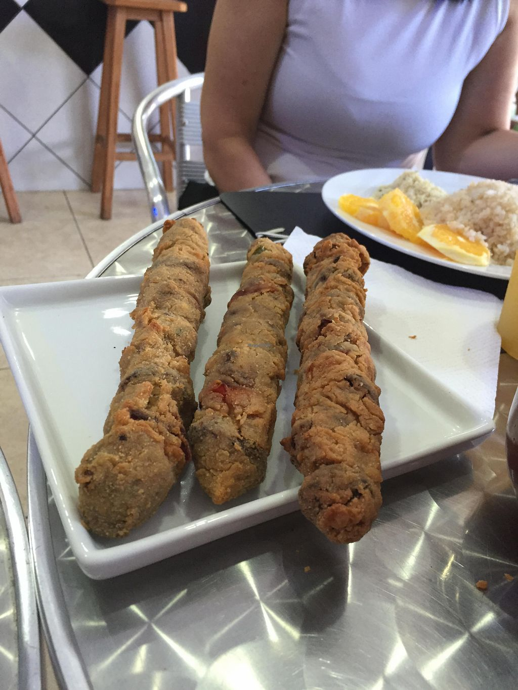 """Photo of Vegan & Co  by <a href=""""/members/profile/Paolla"""">Paolla</a> <br/>Breaded soy meat with vegetables <br/> August 15, 2015  - <a href='/contact/abuse/image/61766/113697'>Report</a>"""