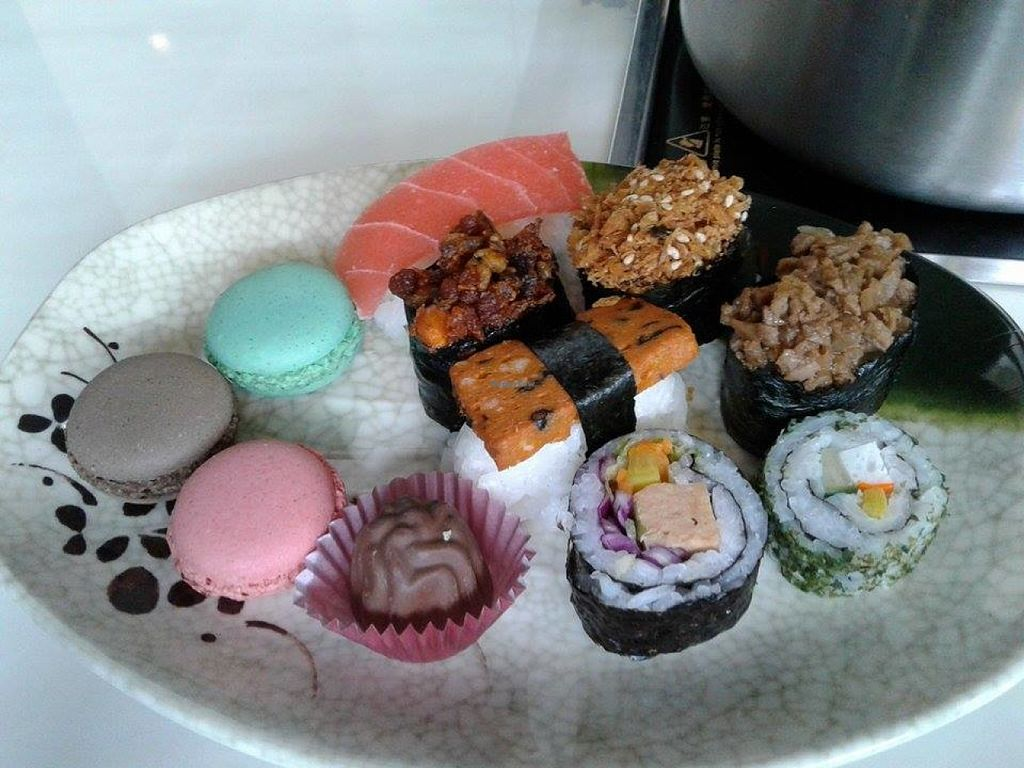 """Photo of Yummy Veggie  by <a href=""""/members/profile/sfalee"""">sfalee</a> <br/>Japanease Vegetarian Sushi & Macaron <br/> June 28, 2016  - <a href='/contact/abuse/image/61775/156511'>Report</a>"""