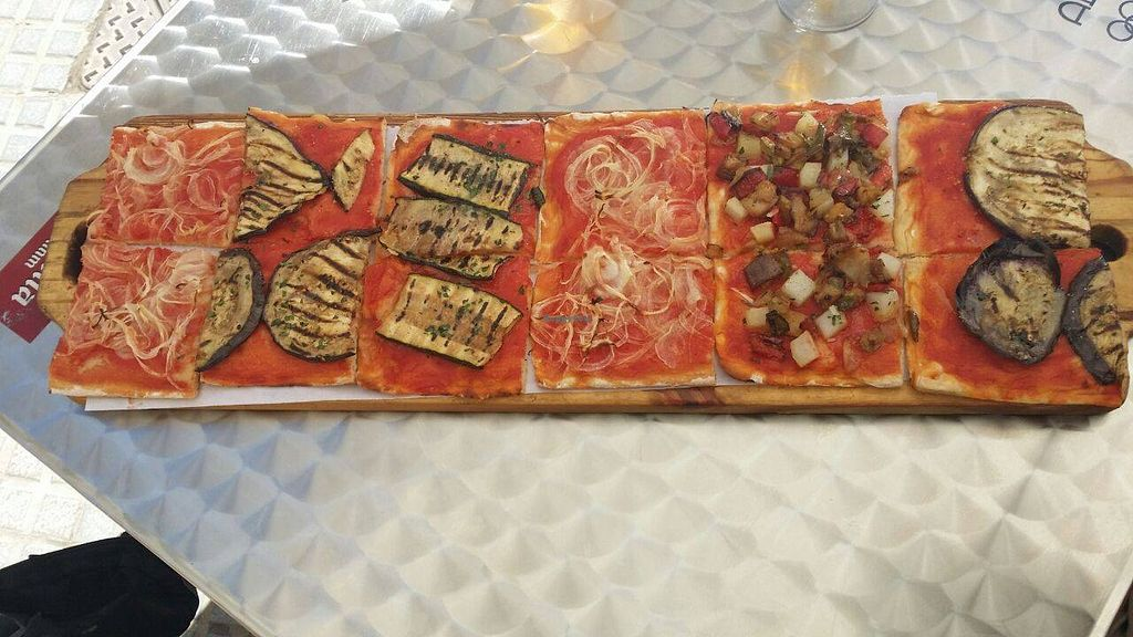 "Photo of CLOSED: Di Bocca in Bocca - Calle Nereidas  by <a href=""/members/profile/JM73"">JM73</a> <br/>Three kinds of vegan pizza, another vegan pasta dish available (not shown in the picture) <br/> September 23, 2015  - <a href='/contact/abuse/image/61789/118830'>Report</a>"