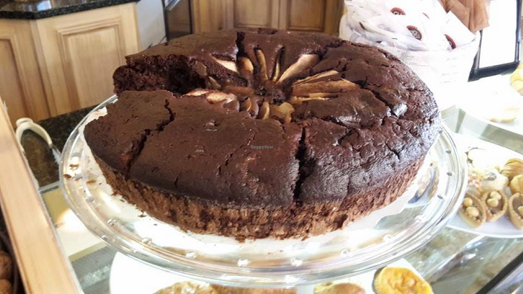 """Photo of CLOSED: Gaia Cafe  by <a href=""""/members/profile/WilliamRigon"""">WilliamRigon</a> <br/>pear cake and cocoa, vegan <br/> August 10, 2015  - <a href='/contact/abuse/image/61791/112988'>Report</a>"""