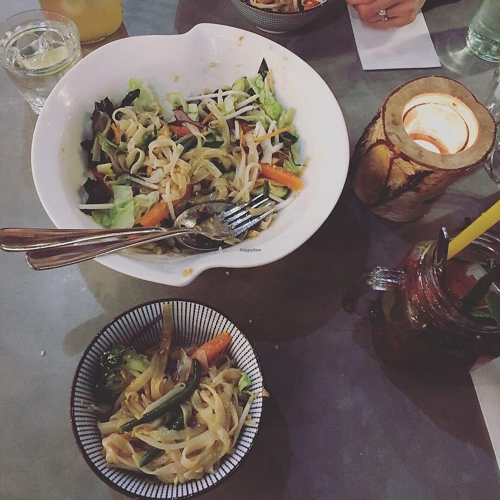 """Photo of Quy Nguyen - Vegan Living  by <a href=""""/members/profile/JouniK%C3%A4rpp%C3%A4"""">JouniKärppä</a> <br/>Tofu with noodles, red sensation drink <br/> February 25, 2018  - <a href='/contact/abuse/image/61841/363704'>Report</a>"""