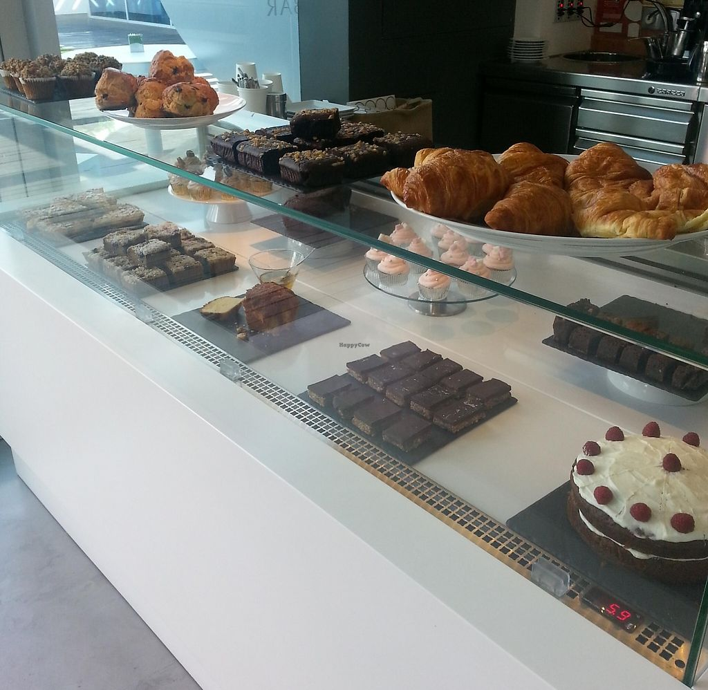 """Photo of Pure Boutique Cafe  by <a href=""""/members/profile/sophiewillcox"""">sophiewillcox</a> <br/>Cake/pastry selection, the brownie on the top shelf was black bean and coconut! <br/> August 31, 2015  - <a href='/contact/abuse/image/61850/240946'>Report</a>"""