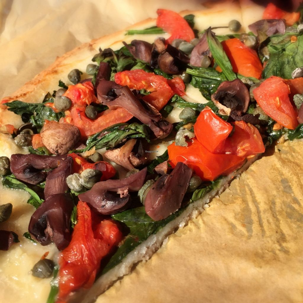 """Photo of Red Tractor Pizza  by <a href=""""/members/profile/t.rock.13"""">t.rock.13</a> <br/>Gluten free too! <br/> September 28, 2015  - <a href='/contact/abuse/image/61853/119466'>Report</a>"""