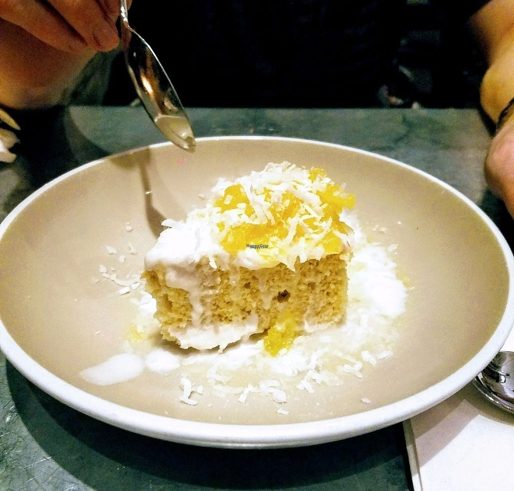"""Photo of Bar Bombon  by <a href=""""/members/profile/aimeelynn"""">aimeelynn</a> <br/>Vegan Tres Leche with Pineapple Marmalade <br/> April 19, 2017  - <a href='/contact/abuse/image/61877/250016'>Report</a>"""
