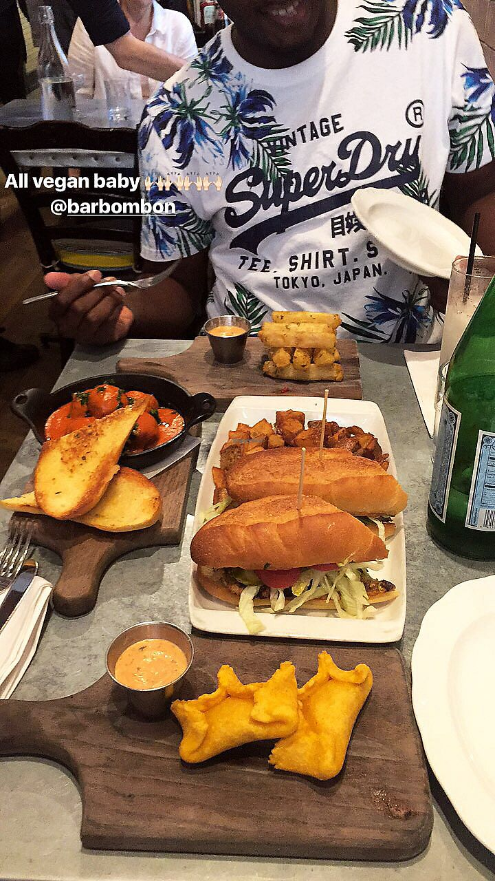 """Photo of Bar Bombon  by <a href=""""/members/profile/YemiLam"""">YemiLam</a> <br/>overall this place is amazing. the customer service and food we great. pictured: mushrooms empanadas. cubano sándwich. meatballs and yuca. All vegan and delicious. also ordered horchata.  <br/> July 9, 2017  - <a href='/contact/abuse/image/61877/278445'>Report</a>"""